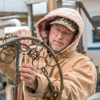Ted Daniels, Skipjack dredge repair